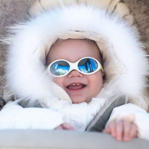 skier avec bébé