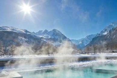 piscine chauffée neige