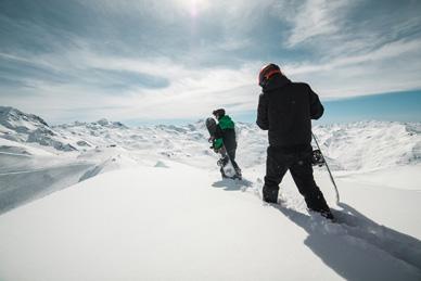 poudreuse snowboard