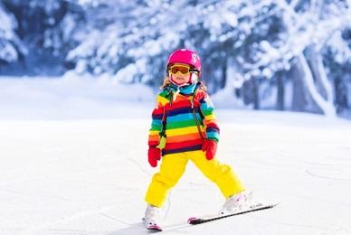 chasse neige skieurs débutants