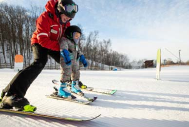 exercice ski enfant